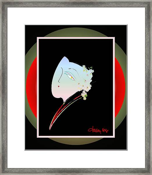 Framed Print featuring the painting The Reluctant Bride by Larry Talley