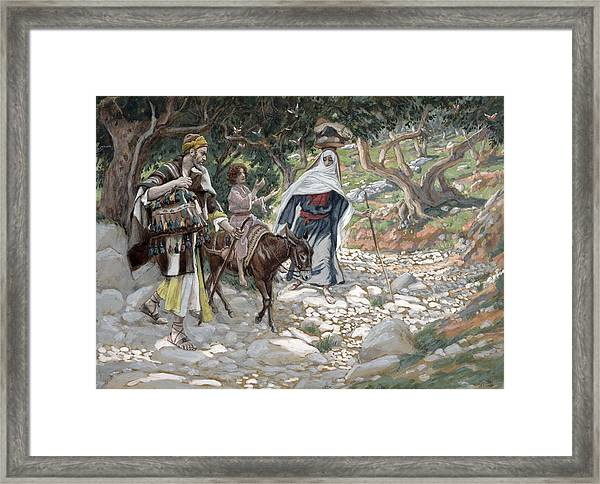 The Return From Egypt Framed Print