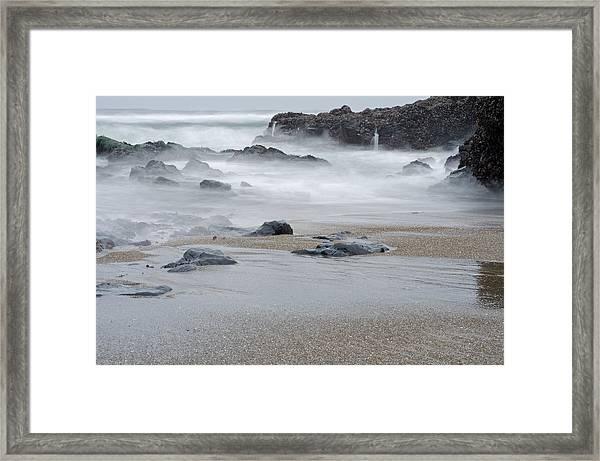 The Revealed Shoreline Framed Print