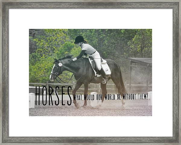 The Reward Quote Framed Print
