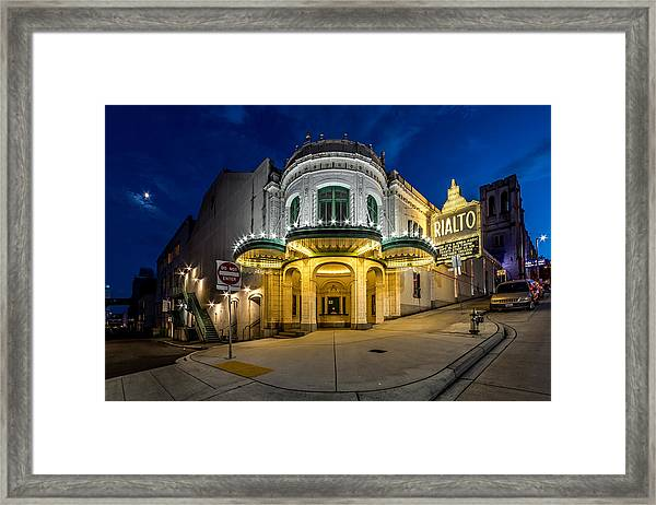 The Rialto Theater - Historic Landmark Framed Print