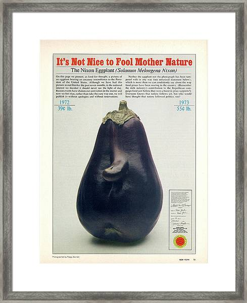 The Richard Nixon Eggplant Framed Print