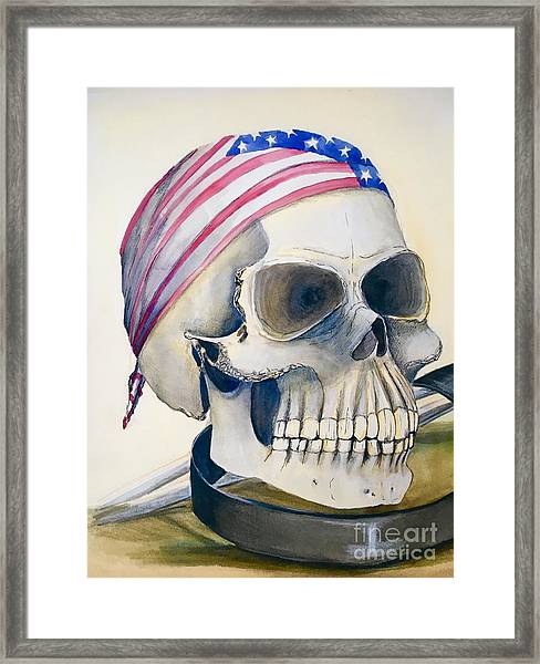The Rider's Skull Framed Print