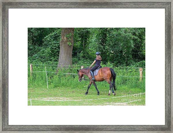 The Riding School In Suburb Framed Print