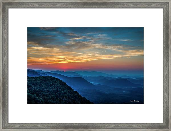 The Rising Sun Pretty Place Chapel Greenville S C Great Smoky Mountain Art Framed Print