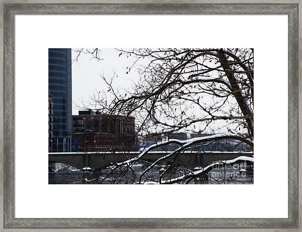 The River Divide Framed Print