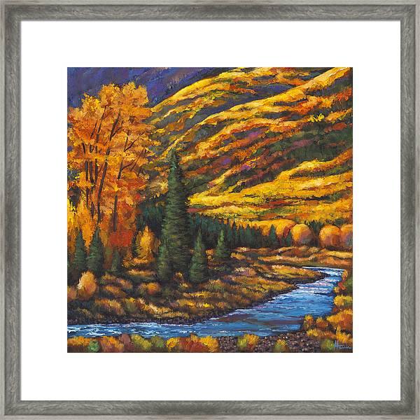 The River Runs Framed Print