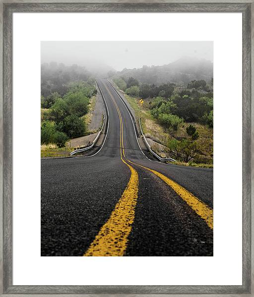 The Road Goes On Forever And The Party Never Ends Framed Print