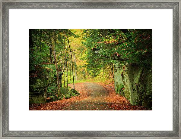 The Road To The Mill  Framed Print