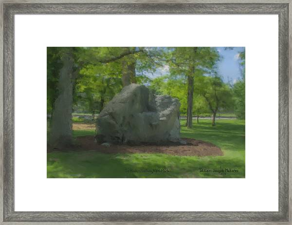 The Rock At Frothingham Park, Easton, Ma Framed Print
