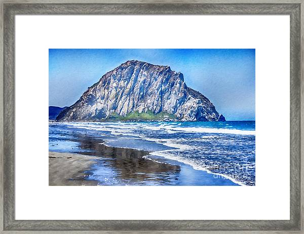 Morro Rock Art Framed Print