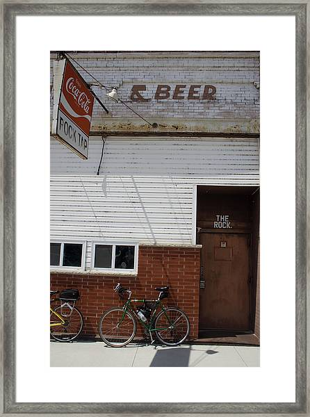 Framed Print featuring the photograph The Rock Bike by Dylan Punke
