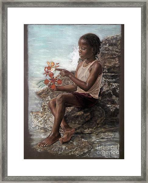The Rock Garden Framed Print
