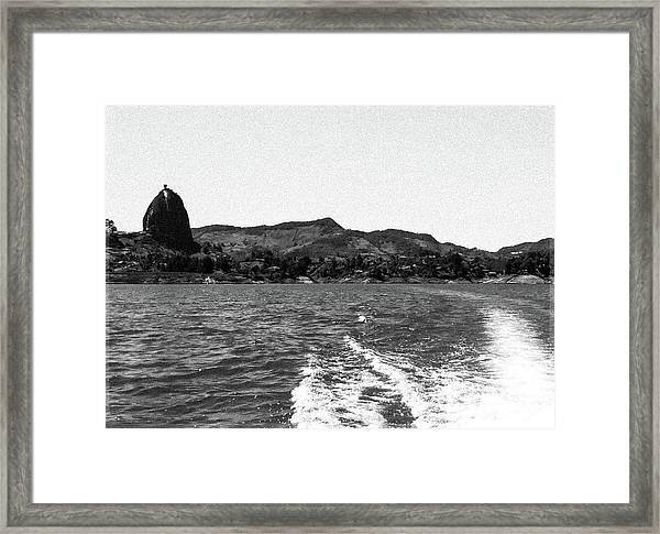 The Rock Of Guatape Framed Print