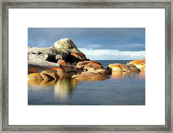 The Rocks And The Water Framed Print