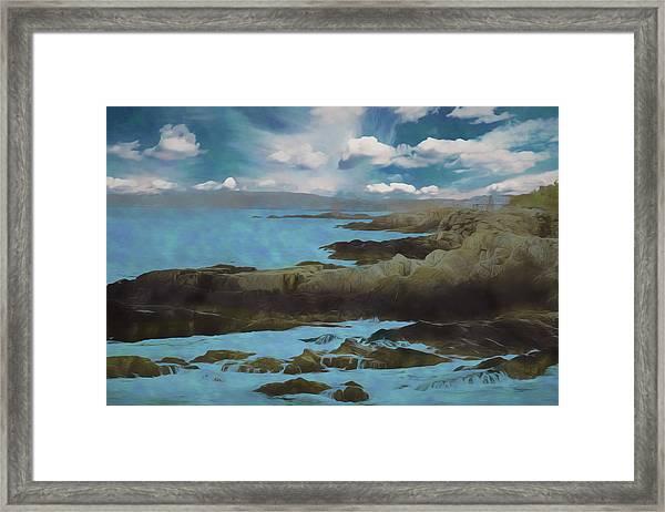 The Rocky Maine Coast. Framed Print