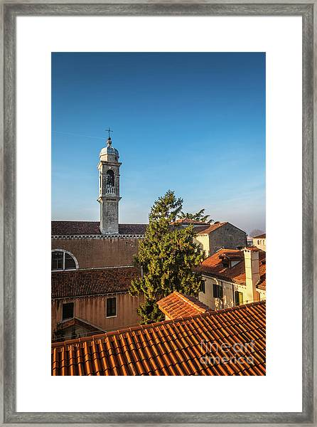 The Roofs Of Venice Framed Print