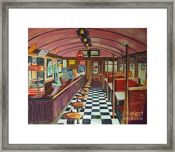 The Rose Diner Framed Print