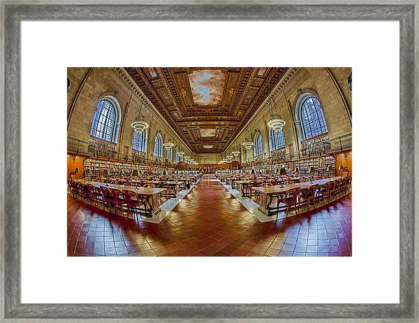 Framed Print featuring the photograph The Rose Main Reading Room Nypl by Susan Candelario