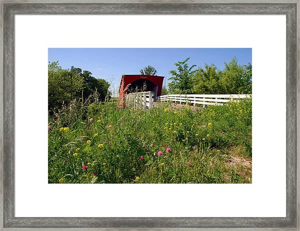 The Roseman Bridge In Madison County Iowa Framed Print