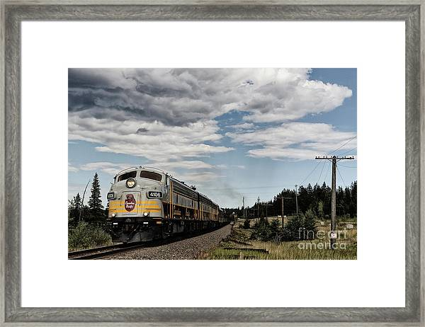 The Royal Canadian Pacific  Framed Print