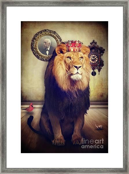 The Royal Lion Framed Print