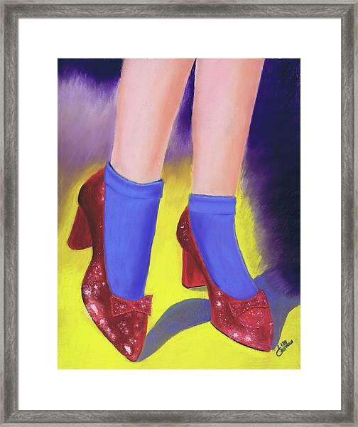 The Ruby Slippers Framed Print