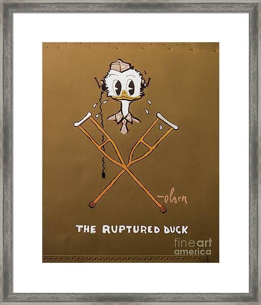 The Ruptured Duck Framed Print