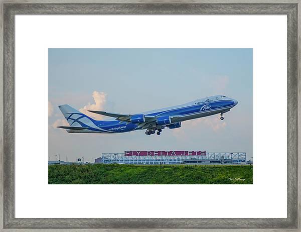 The Russian Connection Air Bridge Cargo Abc B747-8f Cargo Jet Art Framed Print