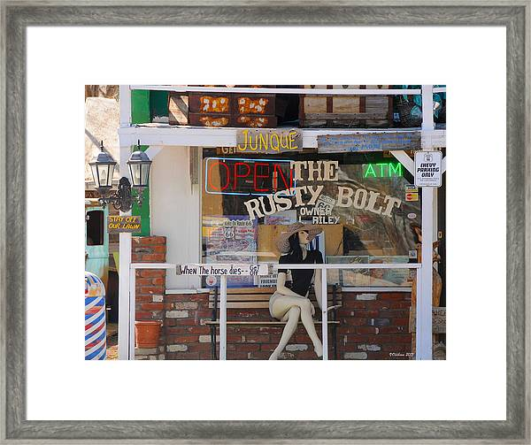 The Rusty Bolt - Seligman, Historic Route 66 Framed Print