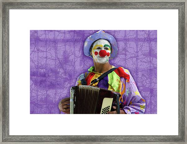 The Sad Clown Framed Print