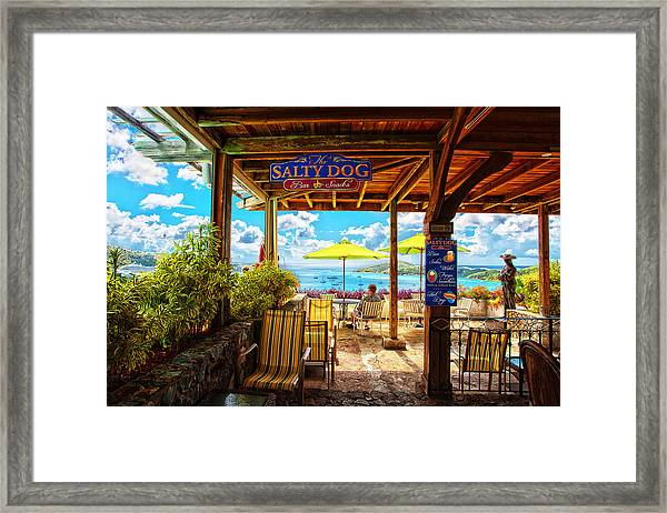The Salty Dog Cafe St. Thomas Framed Print