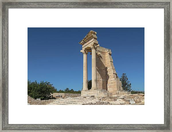 The Sanctuary Of Apollo Hylates - Cyprus Framed Print