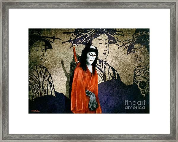 The Scarlet Samurai... Framed Print