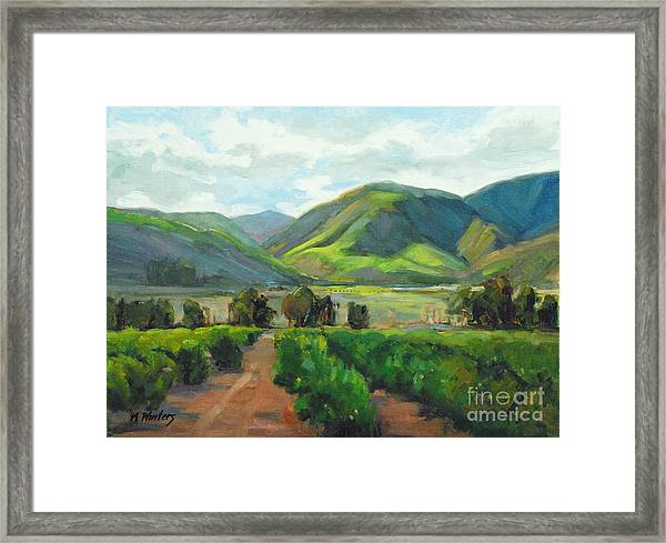 The Scent Of Citrus - Santa Paula Citrus Grove Central Coast Landscape Framed Print by Karen Winters