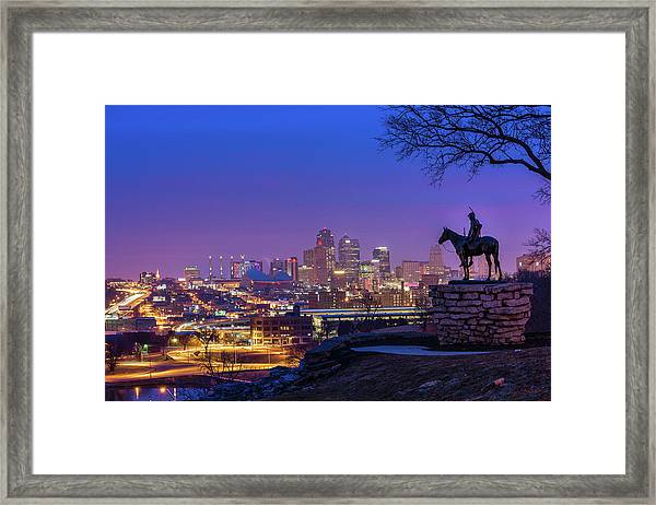 The Scout Framed Print