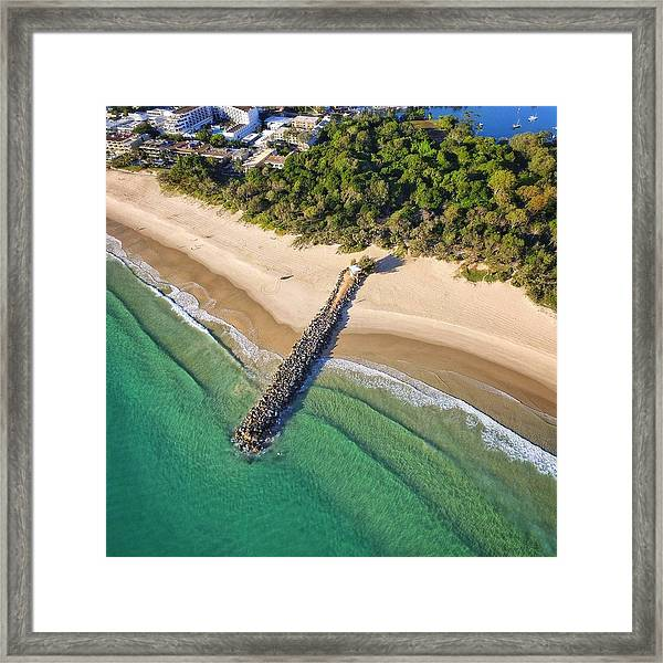 The Sea Wall Near Noosa Main Beach Framed Print