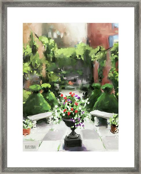 The Secret Garden Framed Print by Beverly Brown