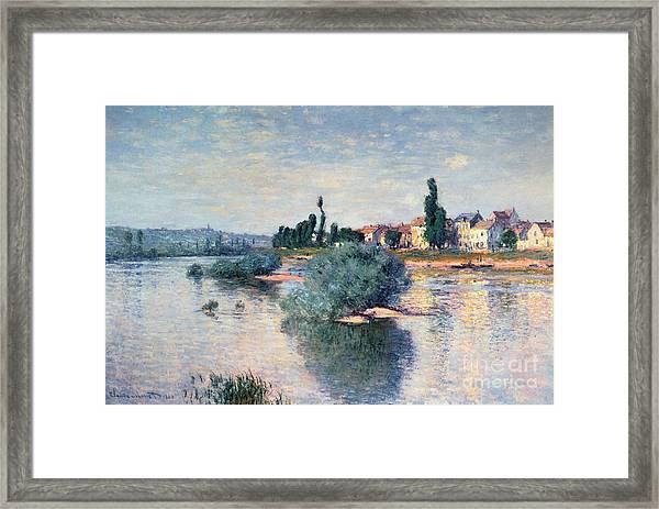 The Seine At Lavacourt Framed Print