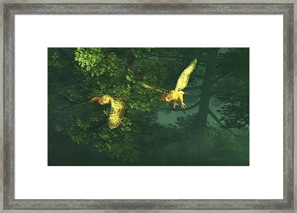 The Sentinels Of Night Framed Print