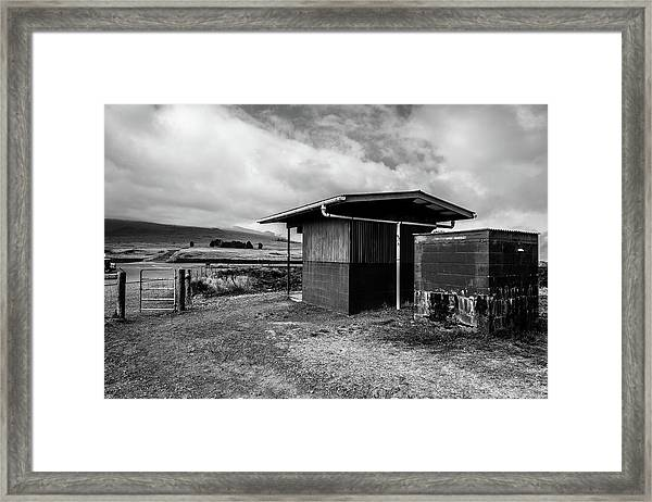Framed Print featuring the photograph The Shack by Break The Silhouette