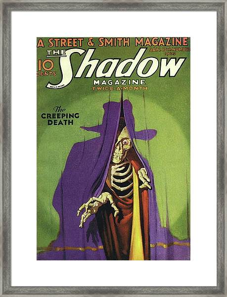 The Shadow The Creeping Death Framed Print