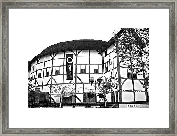 The Shakespeare Globe Theatre, London Framed Print