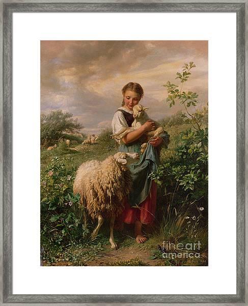 The Shepherdess Framed Print