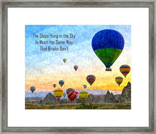 The Ships Hung In The Sky Framed Print