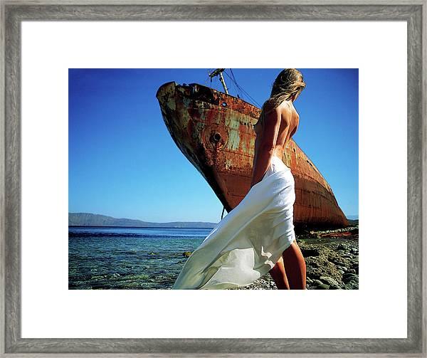 The Shipwreck Framed Print