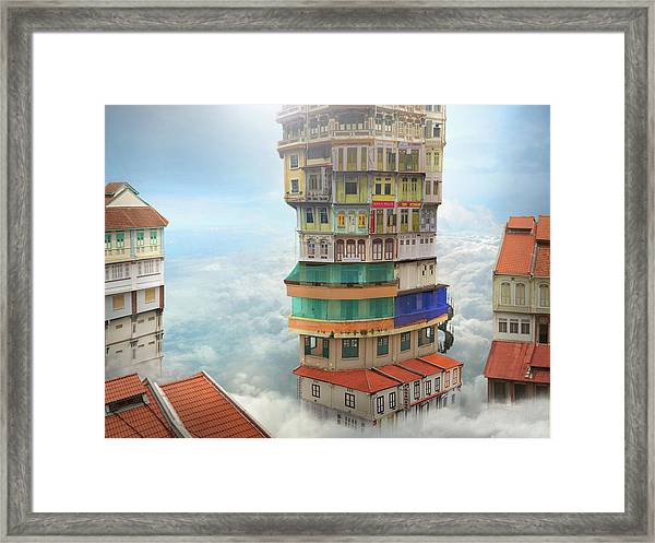 The Shop Towers Framed Print