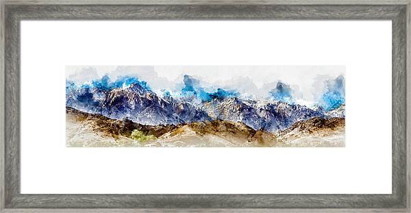 The Sierras Framed Print