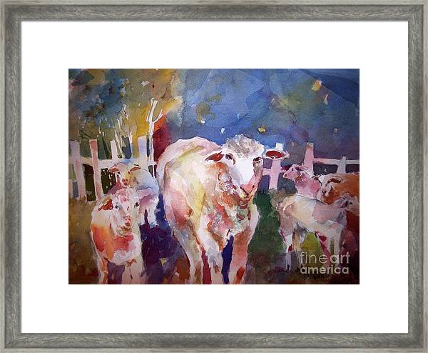 The Silence Of Our Friends Framed Print