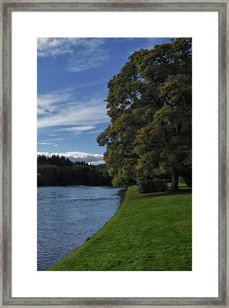 The Silvery Tay By Dunkeld Framed Print